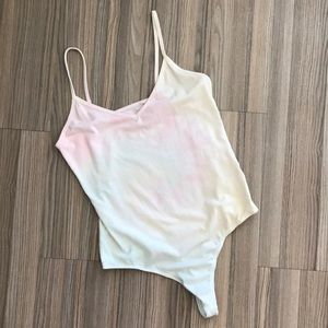 PacSun pastel tie dye body suit